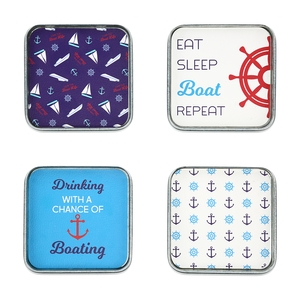 "Boat by We People - 4"" (4 Piece) Coaster Set"