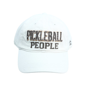 Pickleball People by We People - White Adjustable Hat