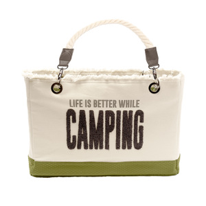 "Camping by We People - 21"" x 12"" Canvas Tote"