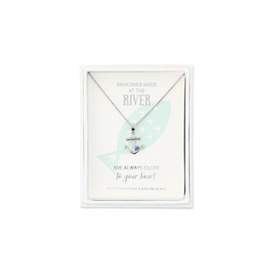 "River - Anchor by We People - 16.5""-18.5"" Rhodium Plated Necklace"