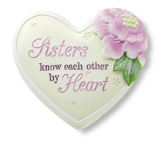 "Sister by Heart Expressions - 2.5"" Inspirational Heart"