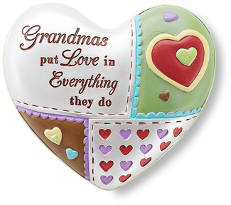 "Grandma by Heart Expressions - 2.5"" Inspirational Heart"