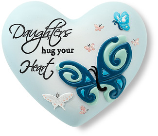 "Daughter by Heart Expressions - 2.5"" Inspirational Heart"