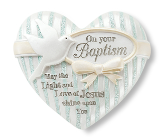 "Baptism by Heart Expressions - 2.5"" Inspirational Heart"