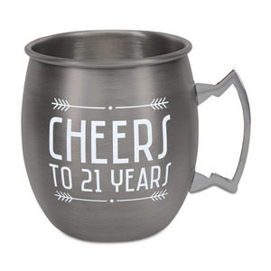 21 Years by Man Crafted - 20 oz Stainless Steel Moscow Mule