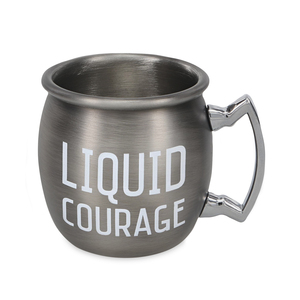 Liquid Courage by Man Crafted - 2 oz Stainless Steel Moscow Mule Shot
