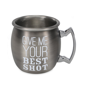 Best Shot by Man Crafted - 2 oz Stainless Steel Moscow Mule Shot