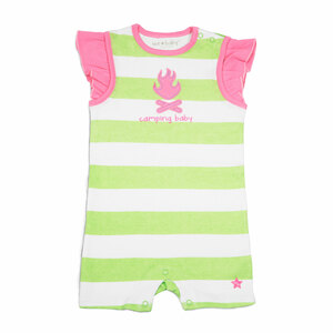 Camping Baby by We Baby - 6-12 Month Girl Romper