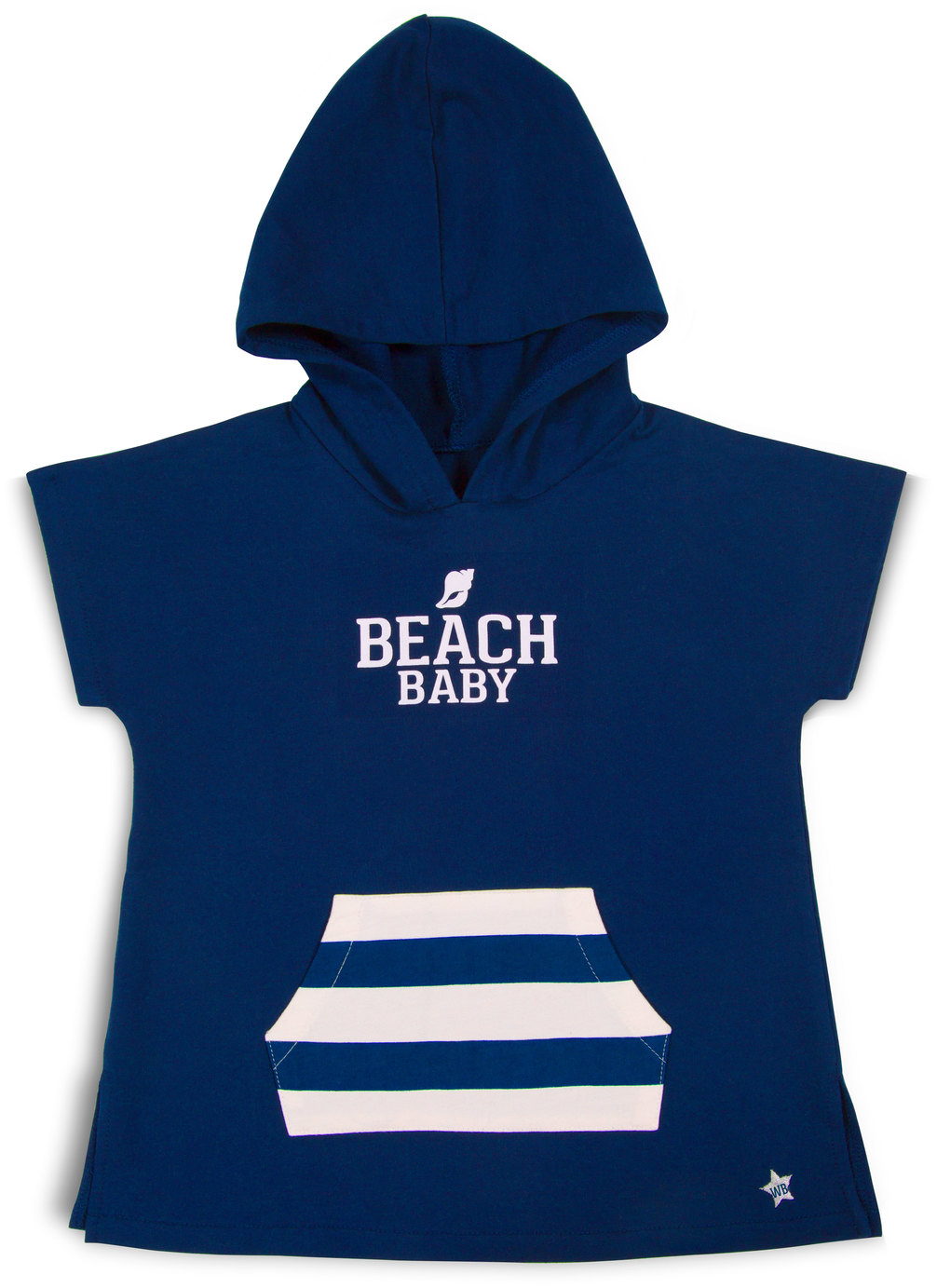 Beach by We Baby - Beach - Hooded French Terry Cover Up (2T-3T)