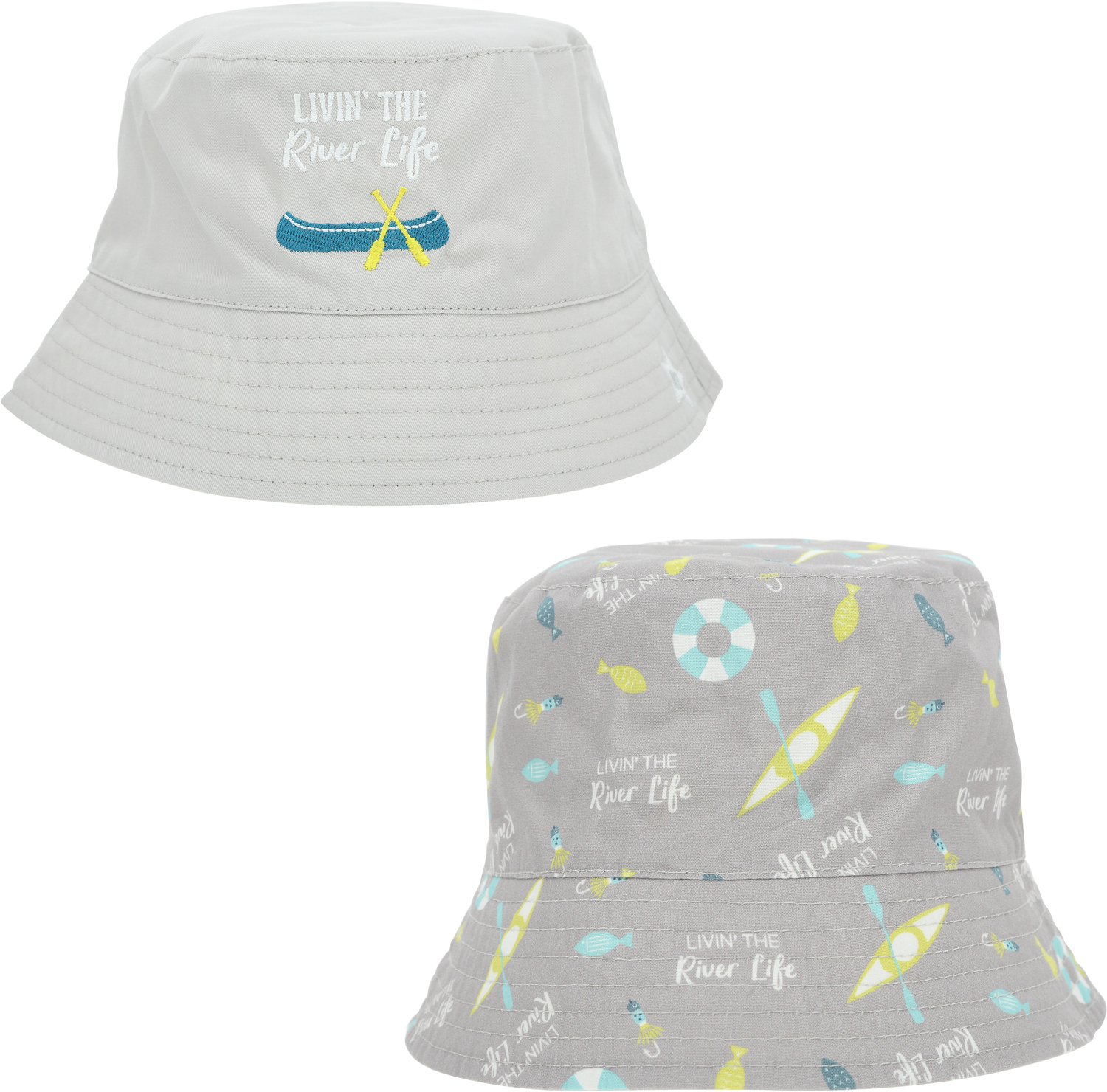 River Life by We Baby - River Life - Reversible Bucket Hat 6-12 Months