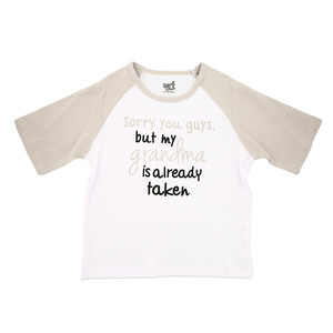 Grandma is Taken by Sidewalk Talk - 2T 3/4 Length Gray Sleeve Shirt