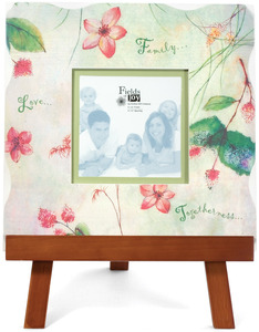 "Family by Fields of Joy - 12""x12"" Pink Frame w/Eas"