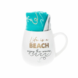 Beach by Warm & Toe-sty - 15.5 oz Mug and Sock Set