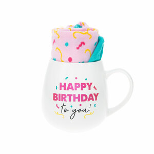 Birthday by Warm & Toe-sty - 15.5 oz Mug and Sock Set