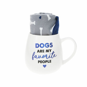 Dog by Warm & Toe-sty - 15.5 oz Mug and Sock Set