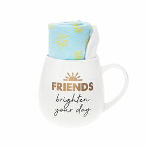 Friends by Warm & Toe-sty - 15.5 oz Mug and Sock Set