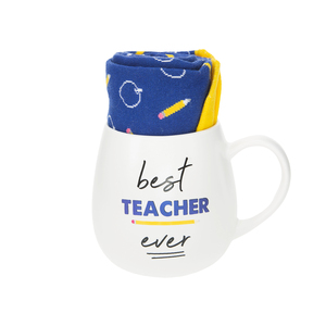 Teacher by Warm & Toe-sty - 15.5 oz Mug and Sock Set