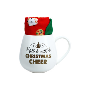 Christmas Cheer by Warm & Toe-sty - 15.5 oz Mug and Sock Set