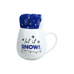 Snow by Warm & Toe-sty - 15.5 oz Mug and Sock Set