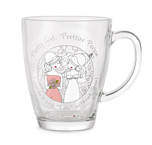 Pretty Girl by philoSophies - 12.5oz Glass Cup