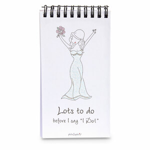 Bride by philoSophies - 80 Page Notepad with Easel