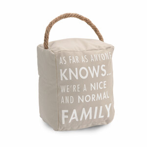 "Normal Family by Open Door Decor - 5"" x 6"" Door Stopper"