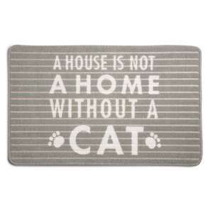 "Cat by Open Door Decor - 27.5"" x 17.75""   Floor Mat"