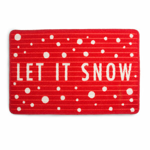 "Let it Snow by Open Door Decor - 27.5"" x 17.75""   Floor Mat"