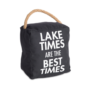 "Lake Times by Open Door Decor - 5"" x 6"" Door Stopper"