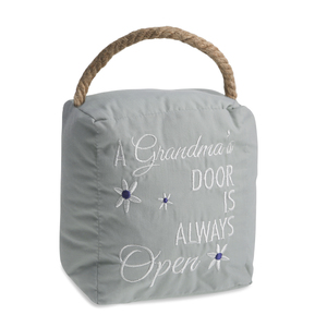 "Grandmother's by Open Door Decor - 5"" x 6"" Door Stopper"