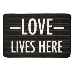 "Love by Open Door Decor - 27.5"" x 17.75""   Floor Mat"