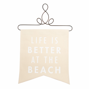 "At the Beach by Open Door Decor - 14"" x 16"" Banner"