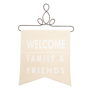 "Welcome by Open Door Decor - 14"" x 16"" Banner"