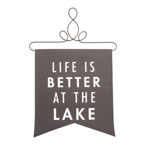 "At the Lake by Open Door Decor - 14"" x 16"" Banner"