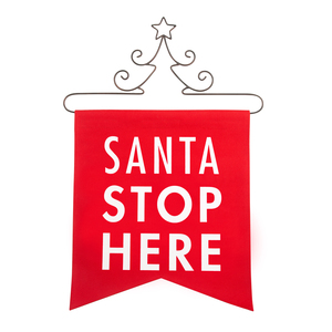 "Santa by Open Door Decor - 14"" x 16"" Banner"
