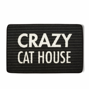 "Cat House by Open Door Decor - 27.5"" x 17.75"" Floor Mat"