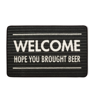 "Brought Beer by Open Door Decor - 27.5"" x 17.75"" Floor Mat"