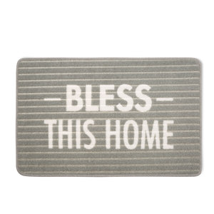 "Bless This Home by Open Door Decor - 27.5"" x 17.75"" Floor Mat"