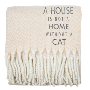 "Cat by Open Door Decor - 50"" x 60"" Herringbone  Blanket"