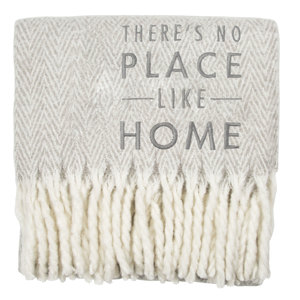 "Home by Open Door Decor - 50"" x 60"" Herringbone  Blanket"