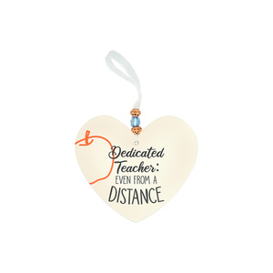 "Dedicated Teacher by Essentially Yours - 3.5"" Heart-Shaped Ornament"