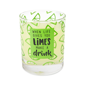 Limes by Livin' on the Wedge - 10 oz. Glass / Tea Light Holder