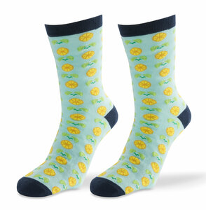 Main Squeeze- Light Blue by Livin' on the Wedge - Mens Cotton Blend Sock