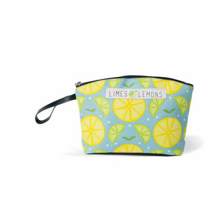 "Main Squeeze- Light Blue by Livin' on the Wedge - 9.25"" x 2.5"" x 6"" Small Nylon Bag"