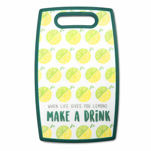 "Make a Drink by Livin' on the Wedge - 9"" x 14.5"" Cutting Board"