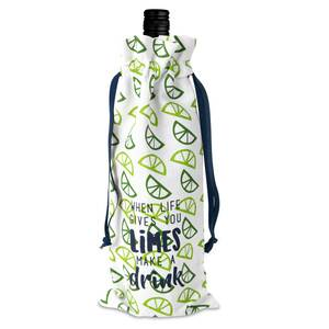 "Limes-Drink by Livin' on the Wedge - 6"" x 14"" 100% Cotton Gift Bag"