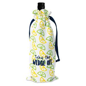 "Wedge Off by Livin' on the Wedge - 6"" x 14"" 100% Cotton Gift Bag"