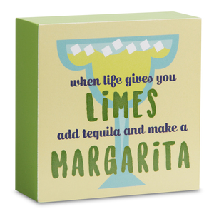 "Margarita by Livin' on the Wedge - 4"" x 4"" Plaque"