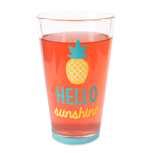 Sunshine by Livin' on the Wedge - 16 oz Pint Glass Tumbler