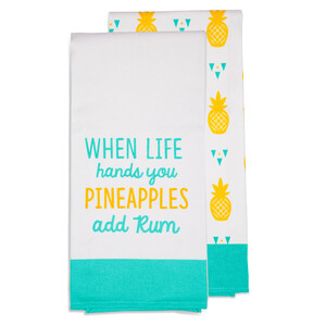 "Add Rum by Livin' on the Wedge - Tea Towel Gift Set (2 - 19.75"" x 27.5"")"